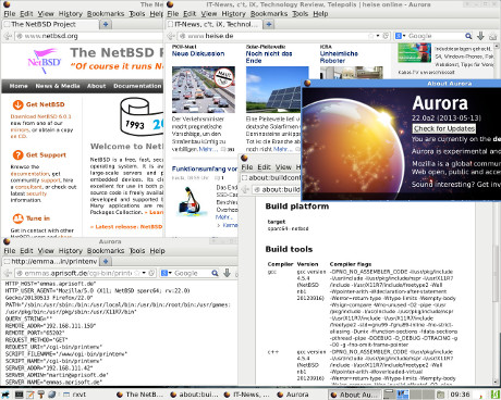 Firefox Aurora 22 screenshot